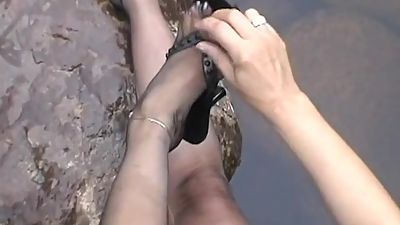 Black Stockings in the river