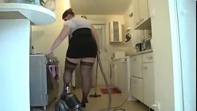 Claire a french BBW wife gangbanged